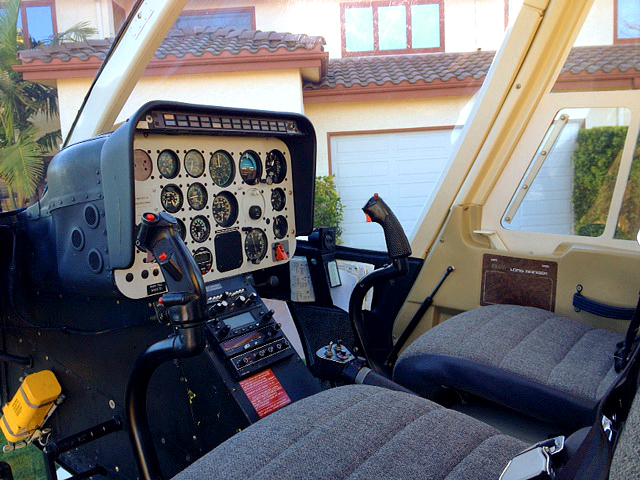 FOR SALE Bell 206L-1 N5017G - Controls