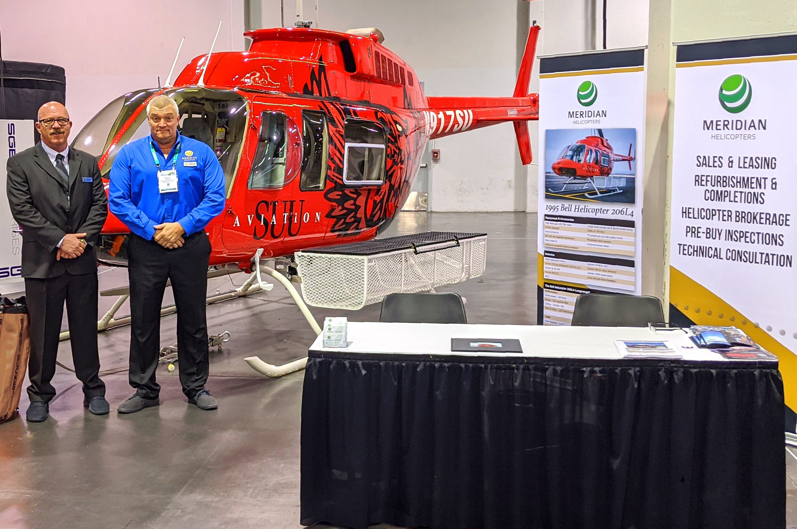 Meridian Helicopters LLC to Display Southern Utah University Bell Helicopter 206L4
